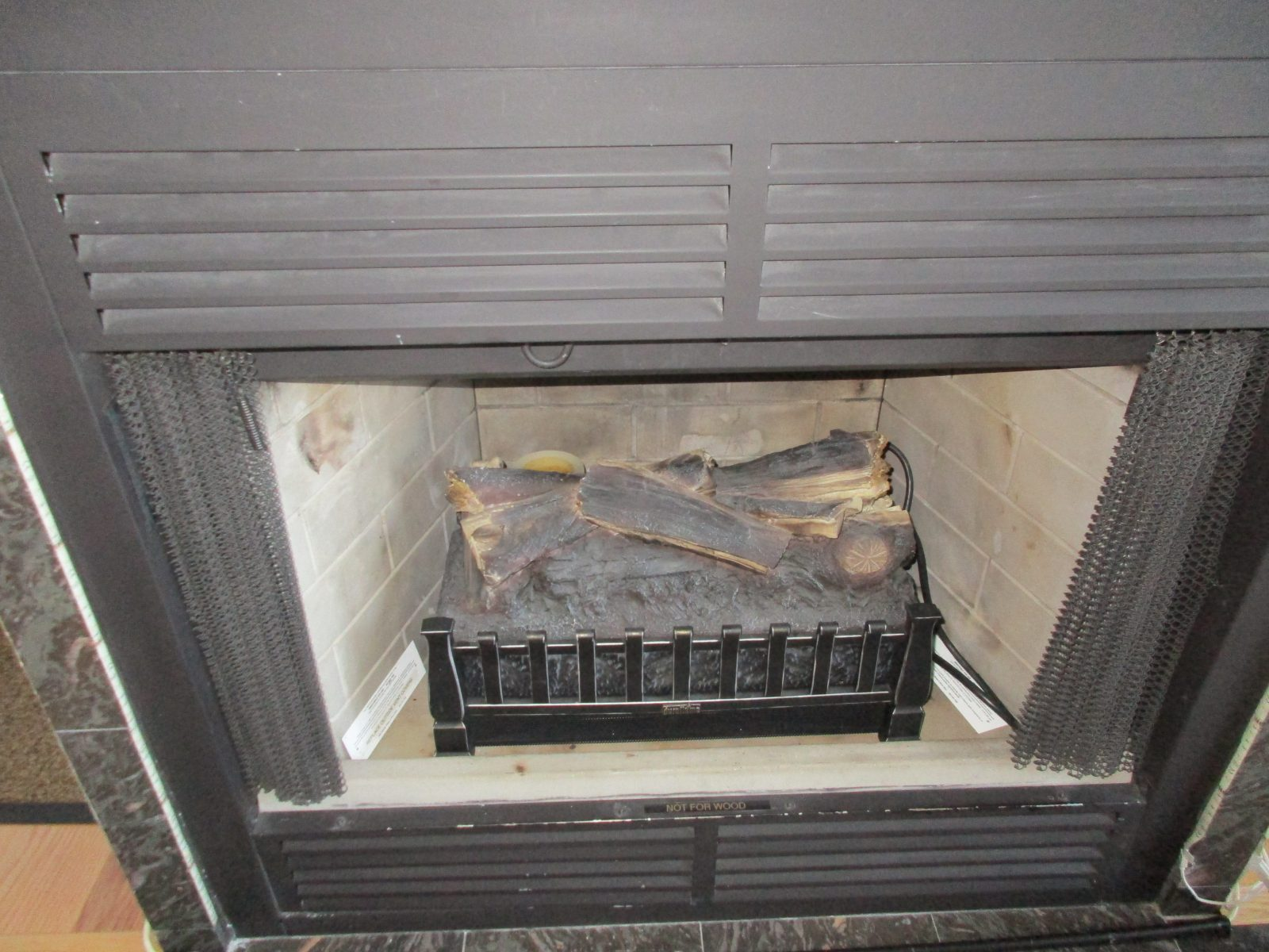 Electric Heater added to FB Wood Burning Fireplace