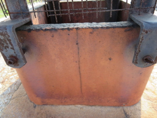 Clay Flue tile has crack on top section