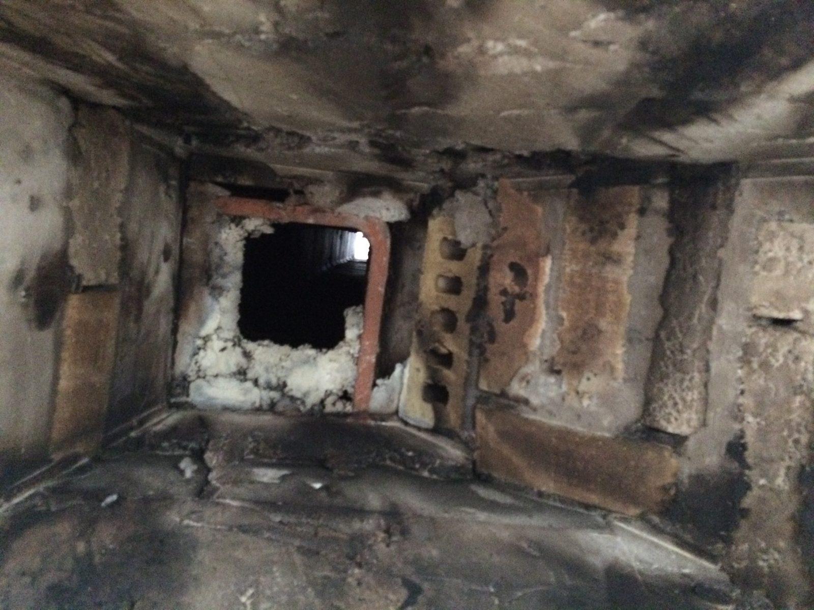 View of older masonry smoke chamber