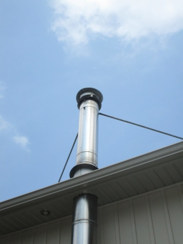 Stainless Steel chimney with required bracing
