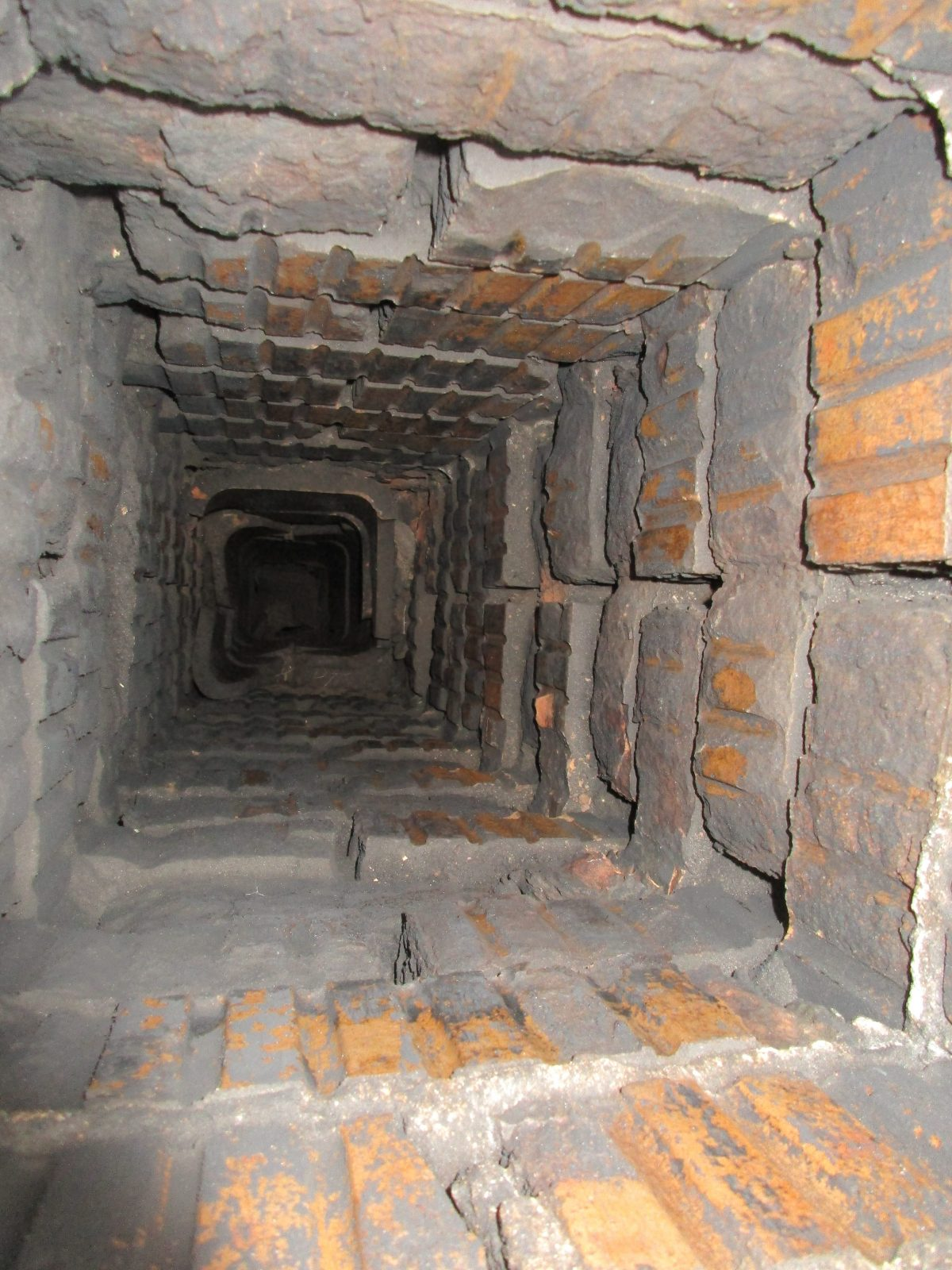 Interior View of Unlined Chimney